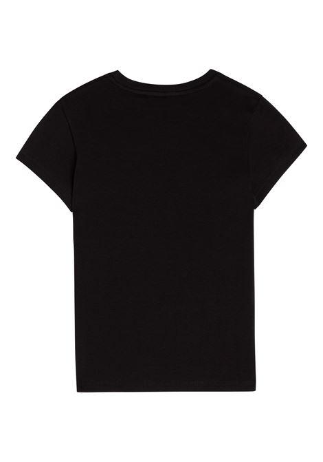 T-shirt con applicazione in paillettes DKNY KIDS | D35R5809B