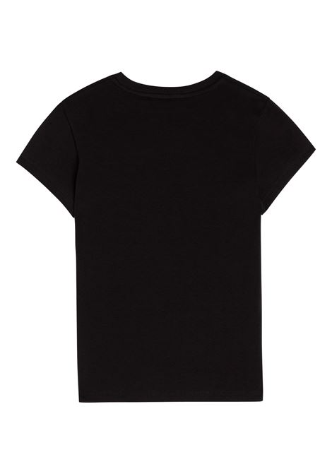 T-shirt con applicazione in paillettes DKNY KIDS | D35R58T09B