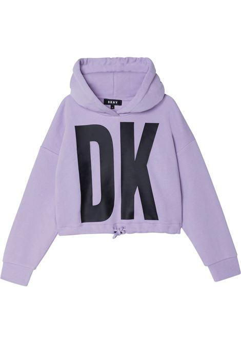 Sweatshirt with print DKNY KIDS   D35R75925
