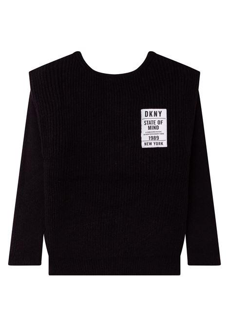 Cardigan con banda logo DKNY KIDS | D35R8409B