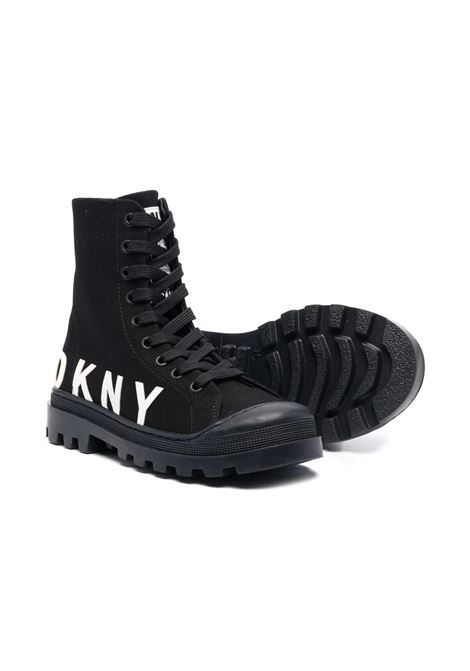 Sneakers alte con stampa DKNY KIDS | D3906209B