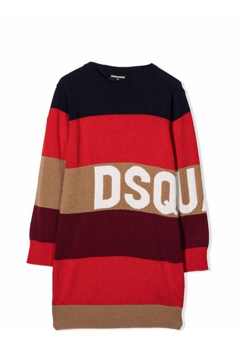 Striped midi dress DSQUARED2 JUNIOR | DQ0365 D007YDQ414