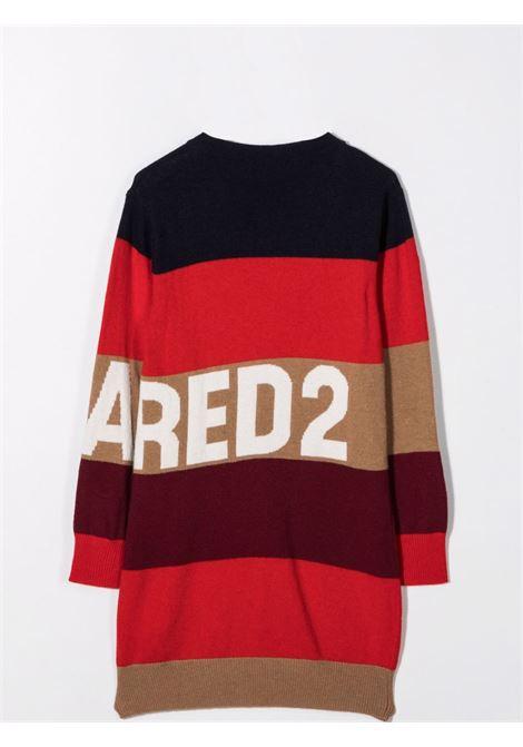 Striped midi dress DSQUARED2 JUNIOR | DQ0365 D007YTDQ414