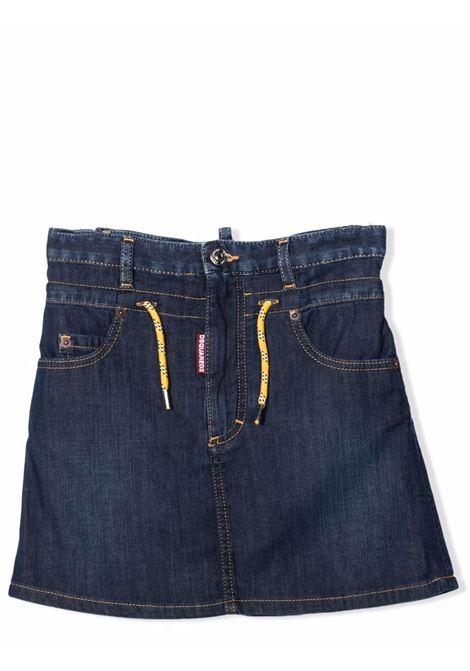Denim skirt with drawstring DSQUARED2 JUNIOR | DQ0374 D007XDQ01