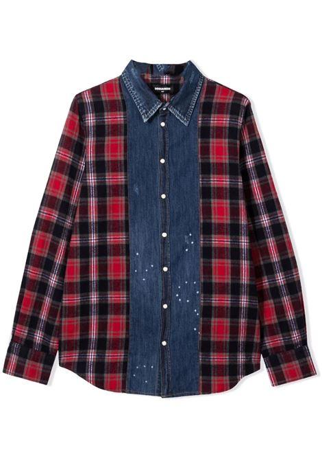 Checked denim shirt DSQUARED2 JUNIOR | DQ0410 D006XDQ858