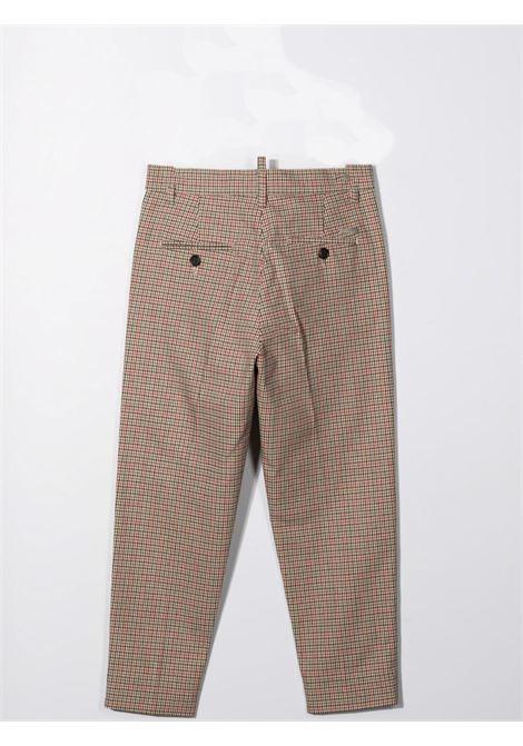 Pantaloni sartoriali a quadri DSQUARED2 JUNIOR | DQ0416 D006TDQC22