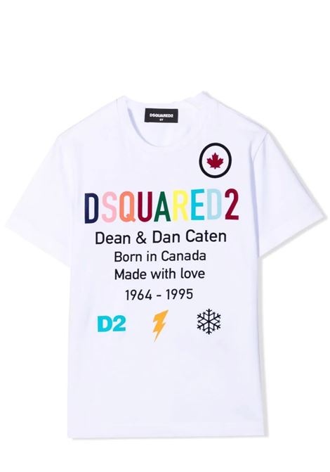 T-shirt con stampa DSQUARED2 JUNIOR | DQ0516 D00MQTDQ100