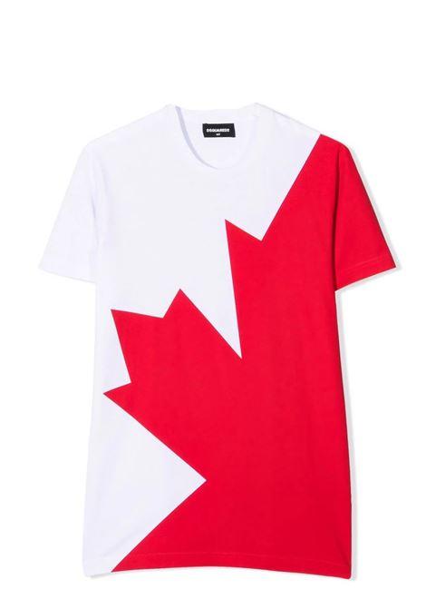 T-shirt con stampa DSQUARED2 JUNIOR | DQ0517 D00MQTDQ100