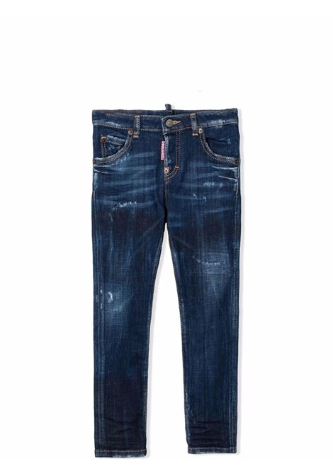 Slim jeans with lightened effect DSQUARED2 JUNIOR | DQ0665 D007NDQ01