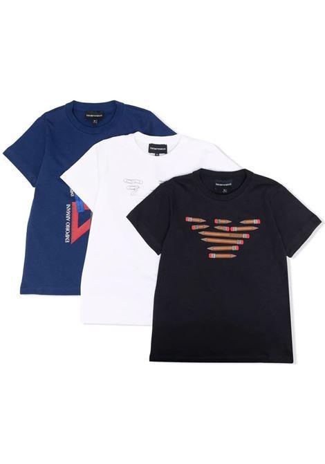 Set t-shirt con stampa EMPORIO ARMANI KIDS   6K4DJ3 4J54Z0100