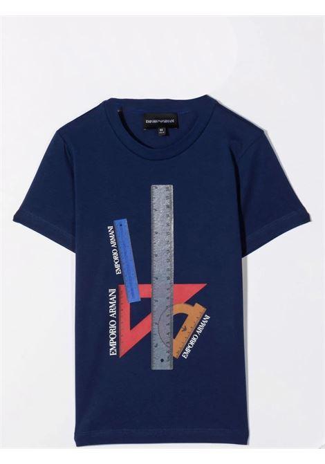 Set t-shirt con stampa EMPORIO ARMANI KIDS   6K4DJ3 4J54ZT0100