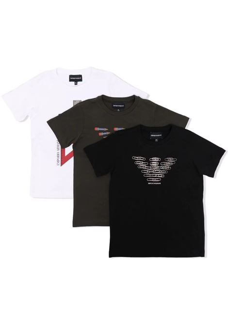 Set t-shirt con stampa EMPORIO ARMANI KIDS   6K4DJ3 4J54ZT0999
