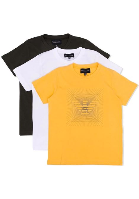 Set t-shirt con stampa EMPORIO ARMANI KIDS   6K4DJ4 4J54ZF559