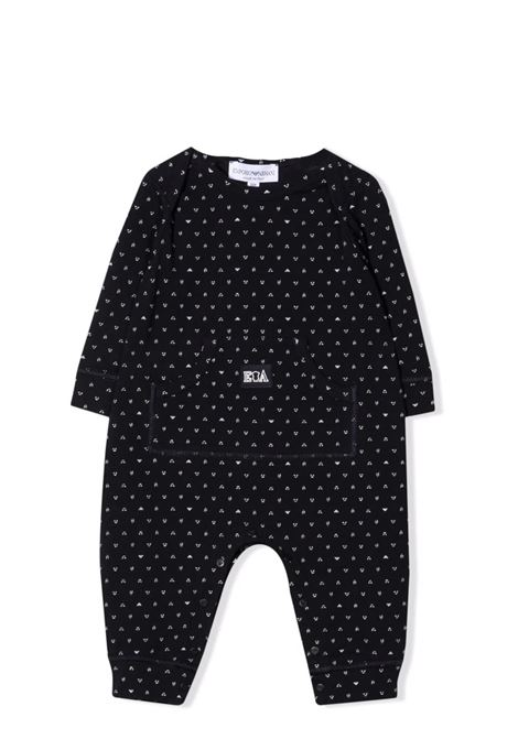 Newborn set with print EMPORIO ARMANI KIDS | 6KNV08 NJ03ZF927
