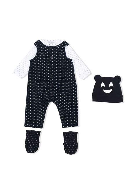Set neonato con stampa EMPORIO ARMANI KIDS   6KNV09 NJ04ZF928