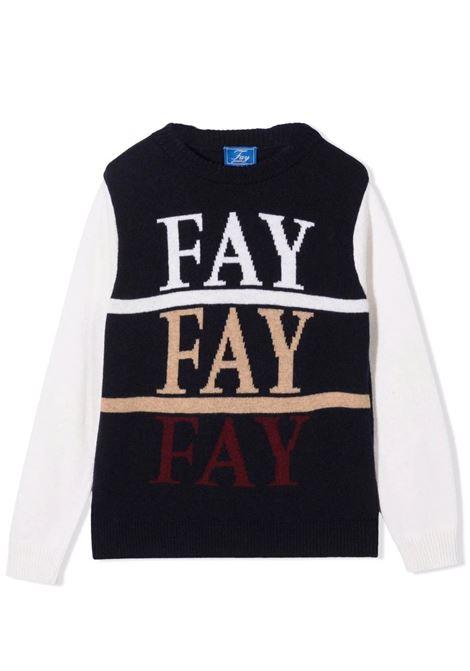 Sweater with inserts FAY KIDS | 5P9210 W0002T621AV