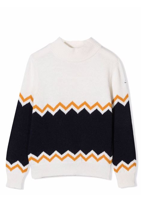 Sweater with color-block design FAY KIDS | 5P9220 W0002101BL
