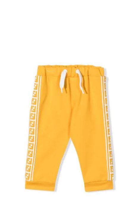 Newborn trousers with FF logo FENDI KIDS | BUF047 A69DF0LWV