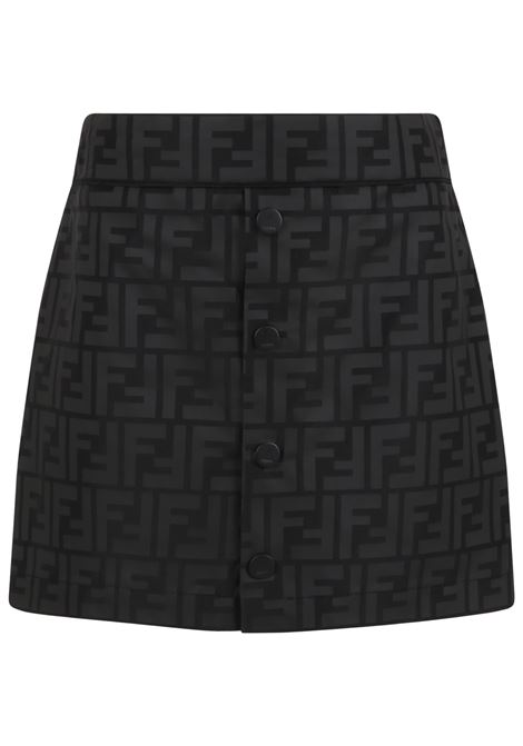 Black skirt with double FF FENDI KIDS | JFE060 AEYYF0GME