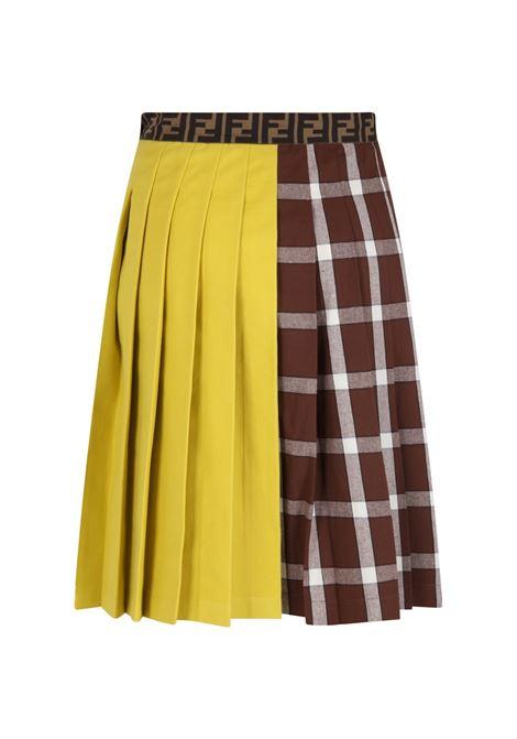 Multicor skirt with iconic prints FENDI KIDS | JFE077 AG13F0ZA0