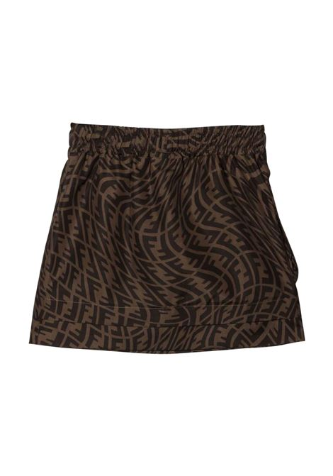 Skirt with print FF FENDI KIDS | JFE078 AG1QF118W