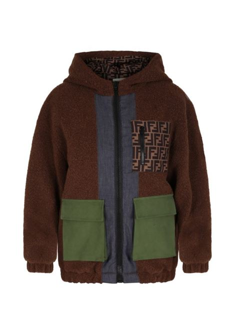 Brown coat FENDI KIDS | JMA224 ADEXF1E5Q