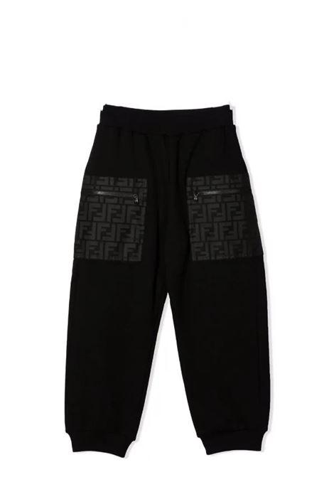 Sweatpants with FF print FENDI KIDS | JMF353 AG3NF0GME