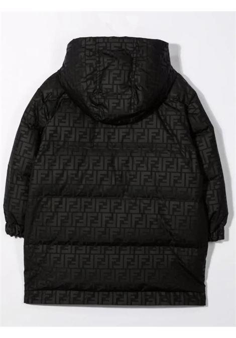 Down jacket with FF print FENDI KIDS | JUA096 AEZMF0GME