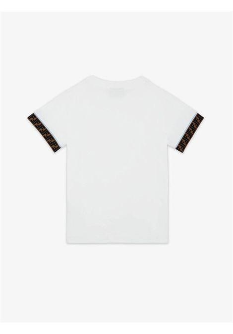 FF motif T-shirt FENDI KIDS | JUI018 7AJTF0TU9