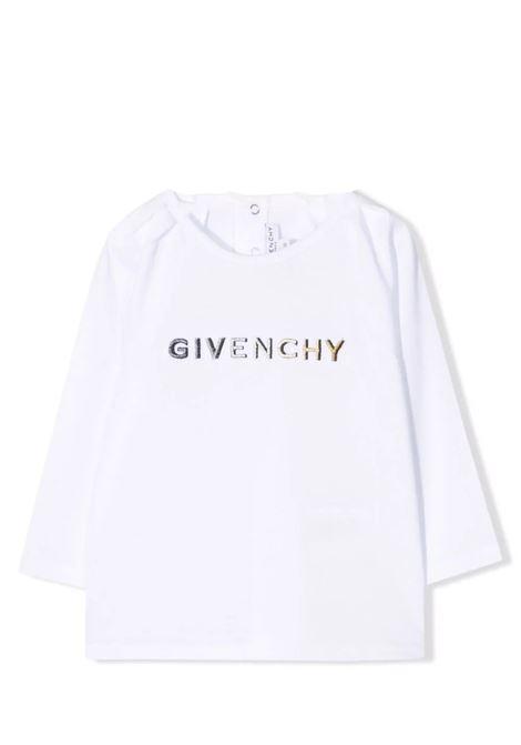 Newborn t-shirt with print GIVENCHY KIDS | H0514B10B