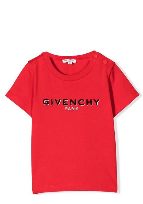 Newborn t-shirt with print GIVENCHY KIDS | H05195991