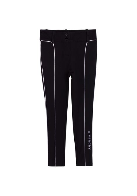 Tailored trousers with embroidery GIVENCHY KIDS | H1413409B