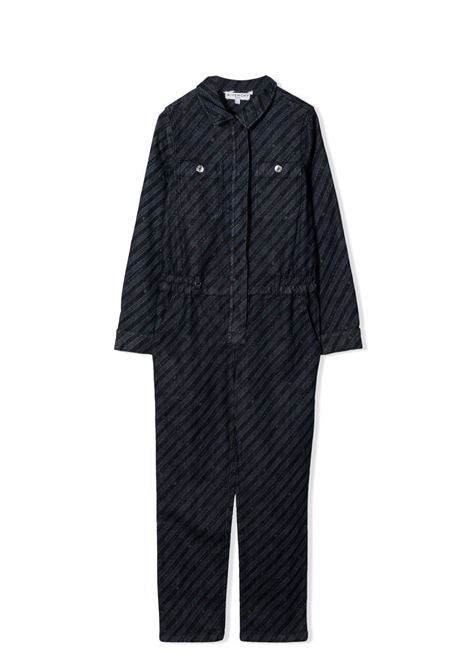 One-piece suit with chain print GIVENCHY KIDS | H14138Z35