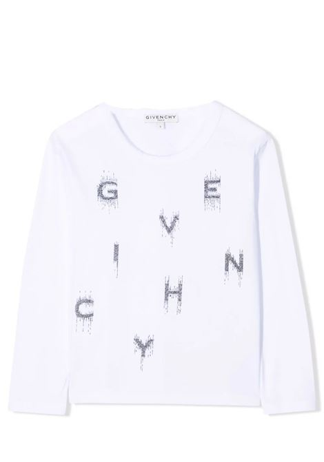 Little girl t-shirt with applications GIVENCHY KIDS | H1521610B