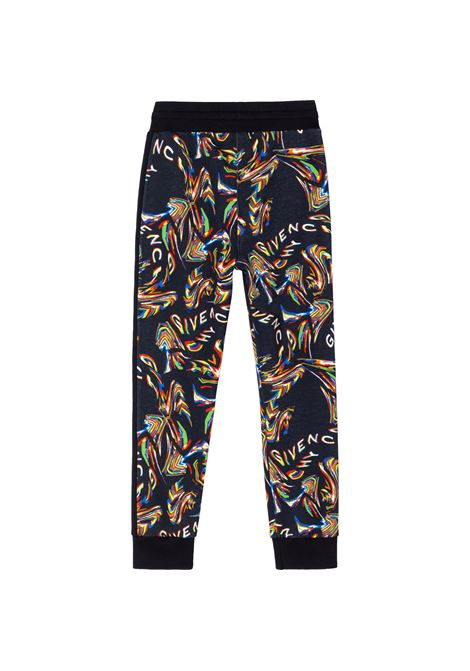 Pantaloni sportivi con stampa GIVENCHY KIDS | H24142241