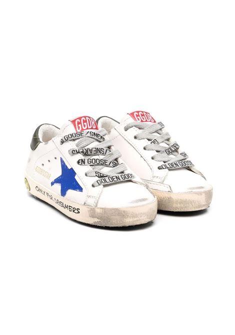 Sneakers con stella blu e retro verde GOLDEN GOOSE KIDS | GJF00101 F00201815310