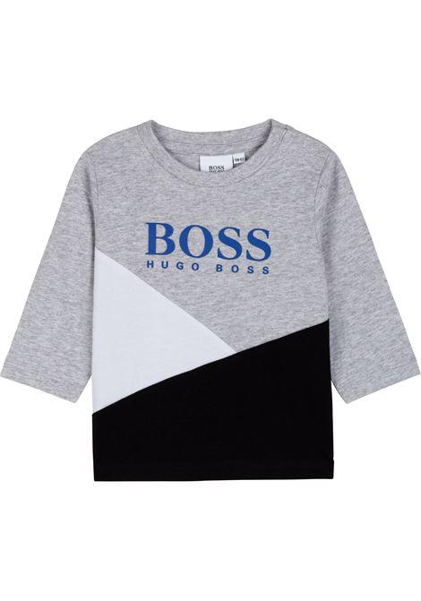 T-shirt with color-block design HUGO BOSS KIDS | J05873A32