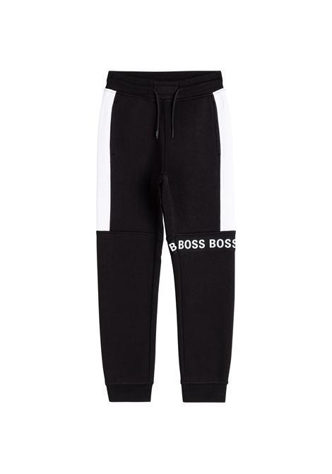 Pantaloni sportivi con design color-block HUGO BOSS KIDS | J2472009B