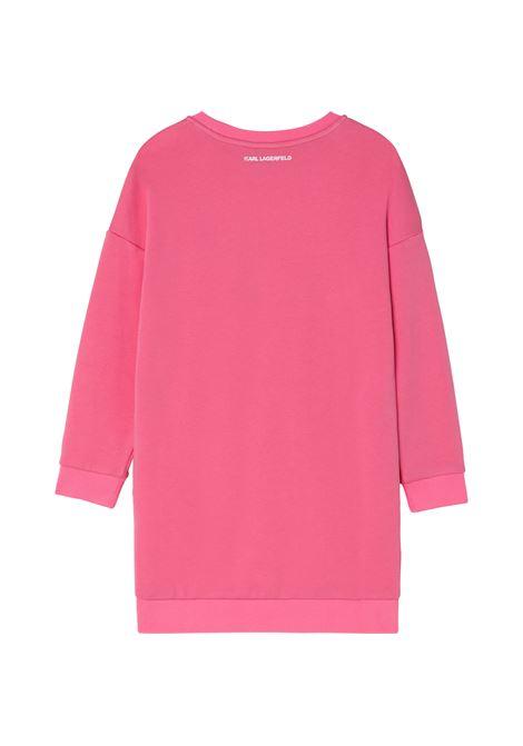 T-shirt dress with rhinestones KARL LAGERFELD KIDS | Z12190T45A