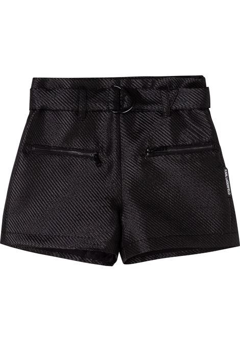 Pantaloncini metallizzati KARL LAGERFELD KIDS | Z14161T09B