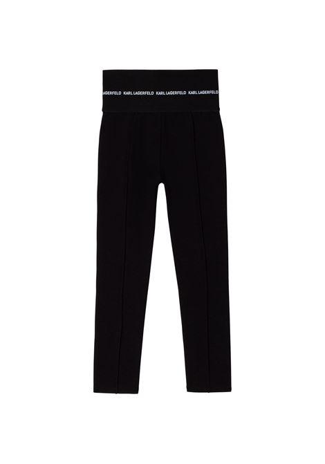 Pantaloni a vita alta KARL LAGERFELD KIDS | Z1416509B