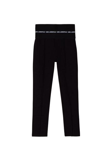 Pantaloni a vita alta KARL LAGERFELD KIDS | Z14165T09B