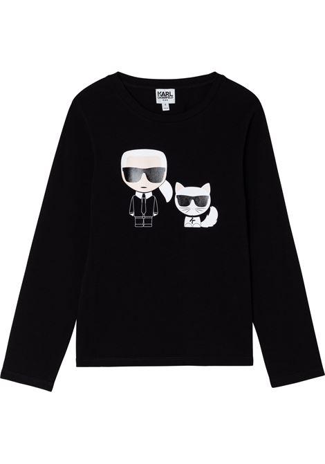 T-shirt Karl & Choupette con stampa KARL LAGERFELD KIDS | Z1532309B