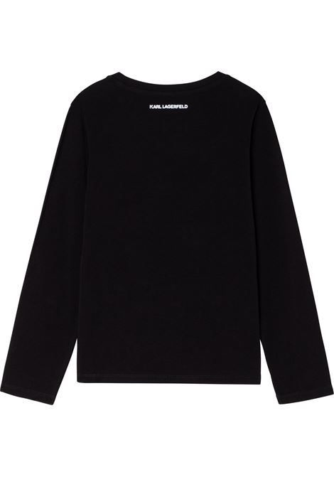 T-shirt Karl & Choupette con stampa KARL LAGERFELD KIDS | Z15323T09B