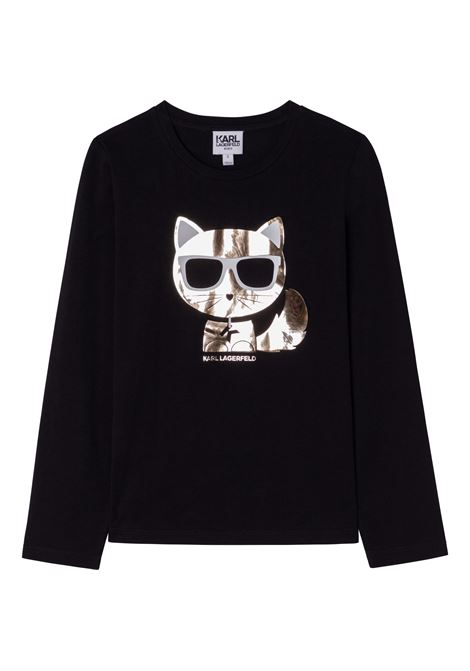 T-shirt con stampa K/Choupette KARL LAGERFELD KIDS | Z1532409B