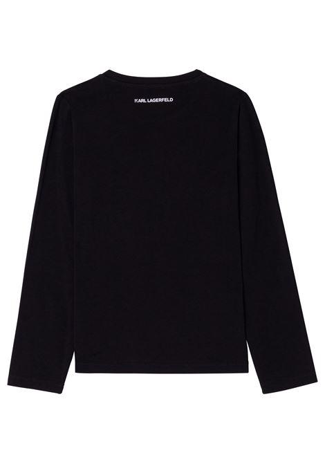 T-shirt con stampa K/Choupette KARL LAGERFELD KIDS | Z15324T09B