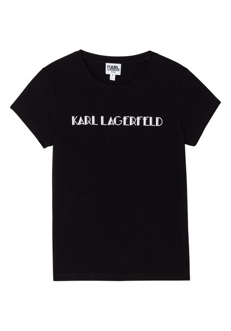 T-shirt con stampa KARL LAGERFELD KIDS | Z15326T09B