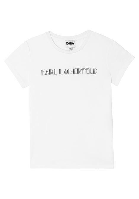 T-shirt con stampa KARL LAGERFELD KIDS | Z15326T10B