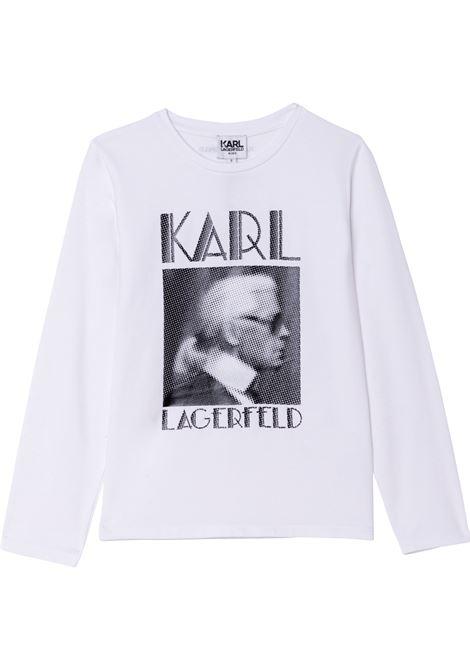 T-shirt con stampa KARL LAGERFELD KIDS | Z1532710B