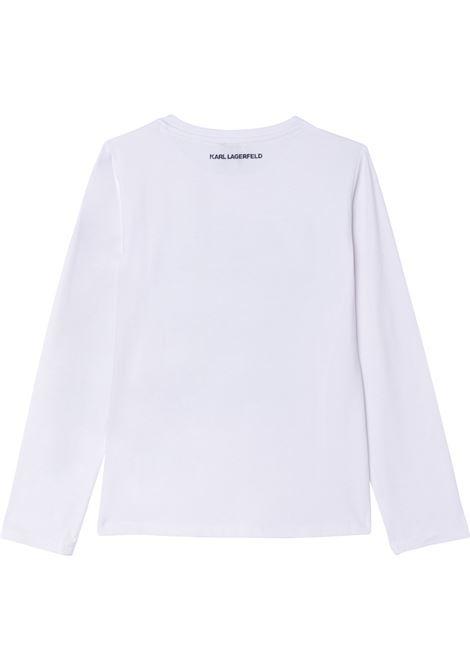 T-shirt con stampa KARL LAGERFELD KIDS | Z15327T10B